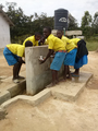 Dungicha pry pupils using hand wash facilities